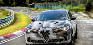 Stelvio Quadrifoglio Sets New Nurburgring Record