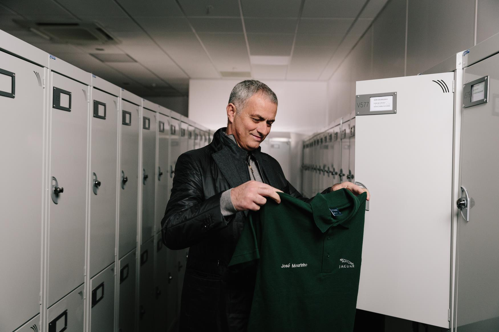 Jose Mourinho Pays Surprise Visit To Jaguar